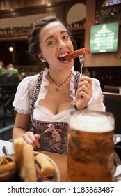 waitress in pub