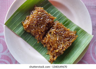 Wajik,  Traditional Indonesian food made from sticky rice, palm sugar or brown sugar, coconut milk and pandan leaves. It's one traditional dish of Berastagi, North Sumatera.