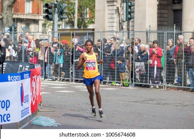 Waka Chaltu Tafa winner of the third place in the Milano Marathon 2017. April 2nd, 2017. Milan, Italy.