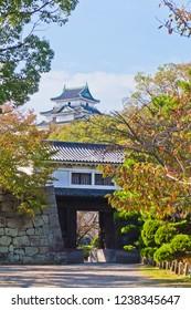 Wakayama Castle in Wakayama city, Japan.