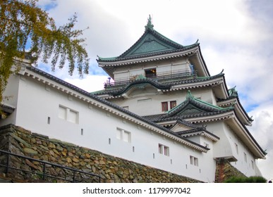 Wakayama Castle in Wakayama Prefecture, Japan, sits at the mouth of the Kii River.
