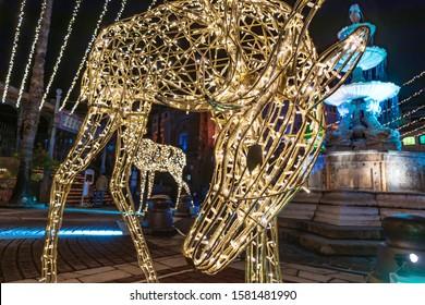 Wakayama City, Wakayama prefecture/ JAPAN- December 02, 2019: Festa Luce Illumination festival in Wakayama Marina City