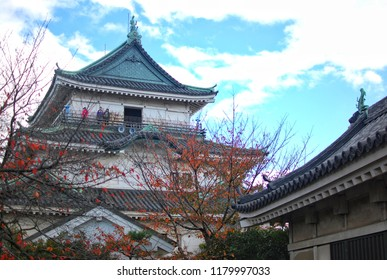 Wakayama, JAPAN - 25 November, 2016 : Wakayama Castle, sits at the mouth of the Kii River.