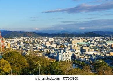 WAKAYAMA, JAPAN- DEC 7 :  Cityscape of Wakayama on Dec 7, 2016 in Wakayama, Japan.