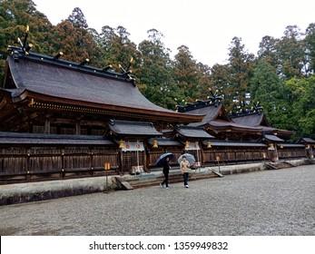 Wakayama, Japan - Mar 10, 2018 : Sacred Kumano Hongu Taisha Shinto Shrine