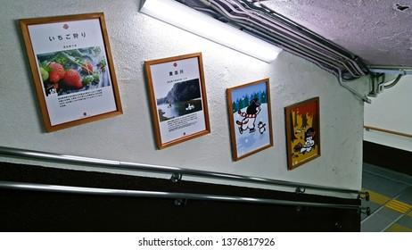 Wakayama Japan , Mar 2017 , Tama Dencha (Cat Train) Wakayama Electric Railway Kishigawa Line , Tama Picture Wakayama Station
