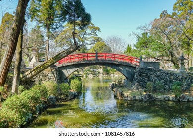 WAKAYAMA , JAPAN - MAR 24 2018 :The Kiikuniichinomiya Idakiso Shrine is the famous ancient zen shrine in Wakayama. This place has a beautiful Japanese garden.