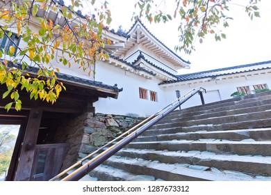 Wakayama, Japan - October 29, 2018: Wakayama Castle in Wakayama city, Japan.