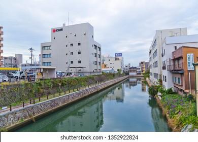 Wakayama, Japan-October 2018 : Townscapes of Wakayama city in autumn.