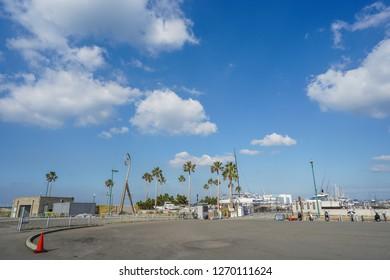 Wakayama - Nov. 17, 2018: Yacht port located in Marina City, Wakayama