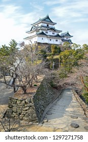 WAKAYAMA,JAPAN/JAN 25,2019:Wakayama castle main tower in Wakayama city, Japan