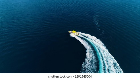 wakeboard sport in aerial view, polynesie francaise