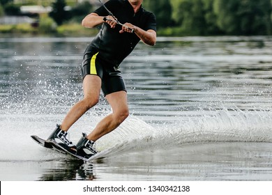 wakeboarding water sport in summer leisure activity