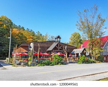 WAKEFIELD, CANADA - OCTOBER 9, 2018: Building in the village of Wakefield. This is one of many villages of the Municipality La Peche, that runs along the western shore of the Gatineau River