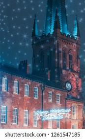 Wakefield Christmas lights, Wakefield, West Yorkshire, UK