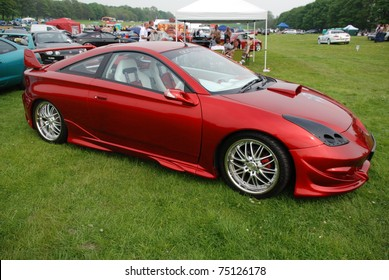 WAKEFIELD, ENGLAND - MAY 10: Red Toyota Celica on Display at the Annual Rising Sun Car Show on May 10, 2008 in Wakefield, England, UK.  Norton Priory is host to the show