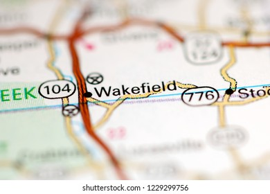 Wakefield. Ohio. USA on a geography map