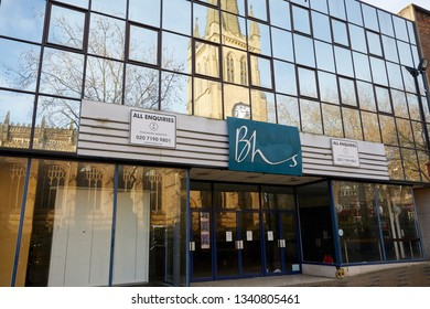 Wakefield, UK. - February 17, 2019: The former BHS store in Wakefield city centre. The company entered administration in 2016.