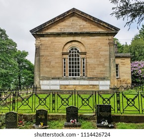WAKEFIELD, UK - JUNE 10, 2018. St Bartholomew's Chapel , 1774, in the grounds of Yorkshire Sculpture Park, near Wakefield, west Yorkshire, UK.