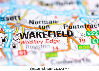 Wakefield. United Kingdom on a map