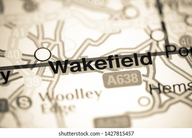 Wakefield. United Kingdom on a map