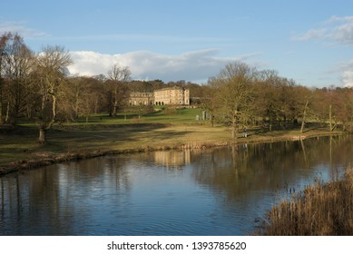 Wakefield, West Yorkshire/England-March 1st 2014: Bretton Hall in the Sculpture Park at West Bretton near Wakefield.