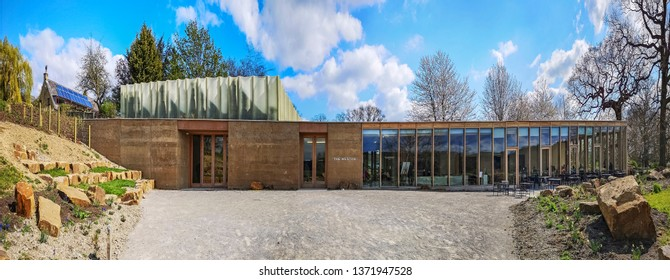 WAKEFIELD, YORKSHIRE, UK - APRIL 13, 2019: The Weston visitor centre houses a new gallery, restaurant and shop  at Yorkshire Sculpture Park, near Wakefield