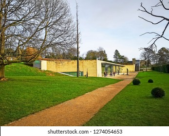 WAKEFIELD, YORKSHIRE, UK - DECEMBER 29, 2018: The Underground gallery at the Yorkshire Sculpture Park