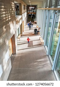 WAKEFIELD, YORKSHIRE, UK - DECEMBER 29, 2018: The interior of the YSP Centre at the Yorkshire Sculpture Park