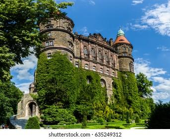 WALBRZYCH, POLAND - JULY 29:  Baroque castle Ksiaz on 29th July 2016 in Walbrzych, Poland.