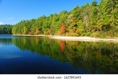 The Walden Pond at the Walden Woods near Concord, Massachusetts, United States of America.