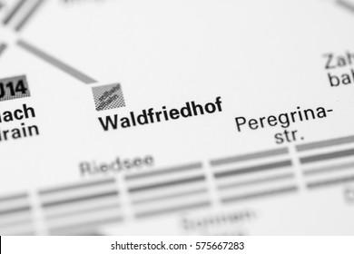 Waldfriedhof Station. Stuttgart Metro map.
