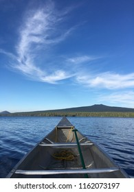 Waldo Lake canoe, Oregon