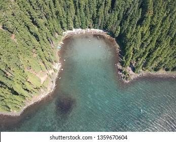 Waldo Lake Oregon Aerial