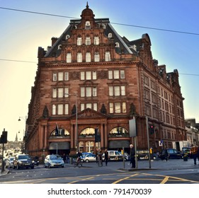 Waldorf Astoria Caledonian Hotel on Princes street, Edinburgh, Scotland, UK. January 2018