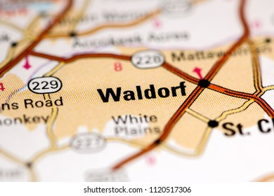 Waldorf. Maryland. USA on a map