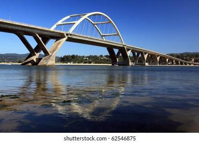 The Waldport bridge on the central Oregon coast
