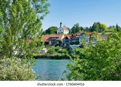 Waldshut, Germany, 05.28.2020, Walshut is a city on the German side of the Rhine river