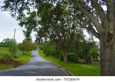Wales, Florida, USA, September 19, 2017 - View of Spook Hill Tourist Attraction