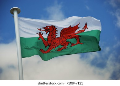 Wales, UK - July 2017: Welsh flag