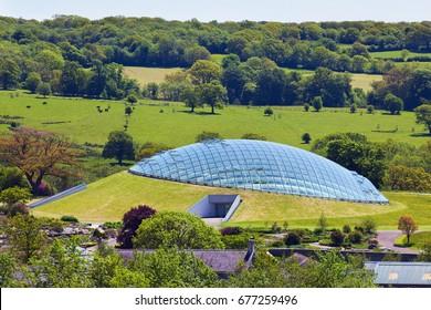 Wales, UK, June 4, 2013. 2015. National Botanic Garden of Wales, llantharne, Carmarthenshire