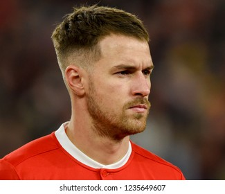 Wales v Denmark, Uefa Nations League, Cardiff City Stadium, 16/11/18: Wales' Aaron Ramsey