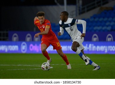 Wales v Finland,  Uefa Nations League 2020, Cardiff City Stadium, 18/11/20Wales' Ethan Ampadu chases down Finland's Glen Kamara