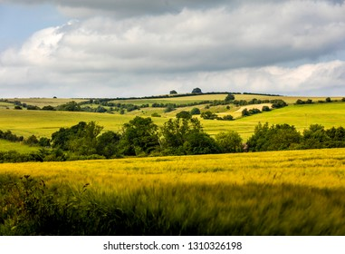 Walesby, Lincolnshire, UK, July 2017, View of landscape near Walesby in the Lincolnshire Wolds
