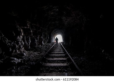 Wales,GB - Abandoned Rail Tunnel
