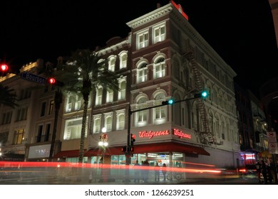Walgreen Drug drugstore at 801 Canal Street in the French Quarter in downtown New Orleans, Louisiana - December 22, 2018