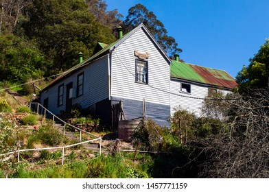WALHALLA, VICTORIA, AUSTRALIA - 29 OCTOBER 2010: The historic Walhalla Masonic Lodge nestled on the side of a hill overlooking the tiny gold rush era town in the mountains of Gippsland.