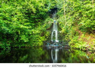 A walk along the river Tillingbourne from the village of Wotton in Surrey to the waterfall southeast England July