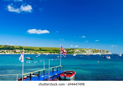 A walk around Swanage and Durlston in Dorset South West England in July