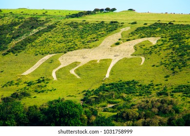 A walk in August around the Osmington in Dorset with views of the White Horse Weymouth and Portland bill